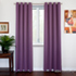 SOFITER Blockout Curtains purple color fabric