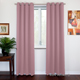 SOFITER Blockout Curtains pink color fabric