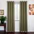 SOFITER Blockout Curtains olive color fabric